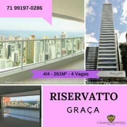 Riservatto Graça * 4 Suítes em 261m² - 4 Vagas - A partir de 2.100.000,00 Oportunidade