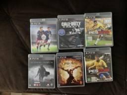 PlayStation 3 + 2 controles + jogos das fotos