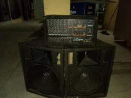 Cabeçote Yamaha EMX 640. + caixa sp2 falante Selenium e Titanium + os cabos