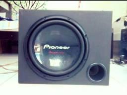 Caixa e falante 12 Pioneer cara preta