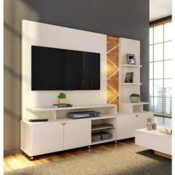 Home Cross com LED, Produzido em MDP e MDF, Apropriado para TV's de até 60 Polegadas;