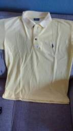Camisa polo amarela de marca apenas R$20,00