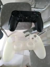 Controle PS4 + Capa de Silicone