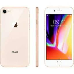 Iphone 8 64gb Gold - Lacrado Garantia 1 Ano + Nota Fiscal