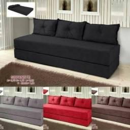 Sofa cama imperio em tecido suede *direto de fabrica