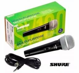 Microfone Shure Profissional Vocal Com Fio SV100
