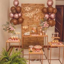 Mesas pra decoração de festas