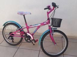Bicicleta Caloi Barbie aro 20 - 7 marchas