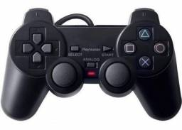 Controle Manete Dual Shock Playstation 2 Play 2 Ps2 Preto