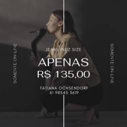 Calça jeans Feminina Plus Size