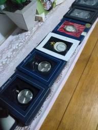 Vendo seis relógios de bolso novos gentleman collection