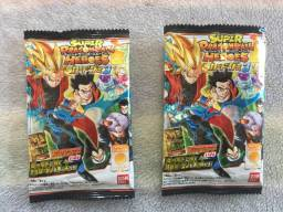 2 Candy + 2 Cards Super Dragon Ball Z Heroes Pcs3-03 / Pcs3-05 Originais Novos Lacrados!
