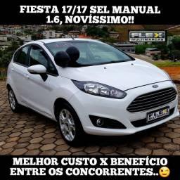 Fiesta 1.6 Manual Sel 17/17, R$43.900,00;