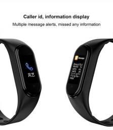 Pulseira Relogio Smartband Preto Pulso M4 Monitor Cardiaco