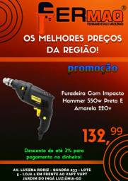 Furadeira Com Impacto Hammer 550w Preta E Amarela 220v