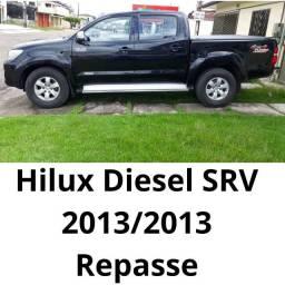 Repaase. Uma Toyota hilux srv a diesel ano 2013