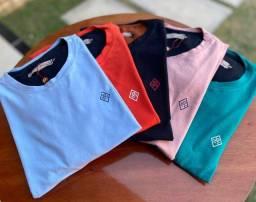 Camisas no tecido cotton basicas