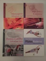 Coleção com 3 volumes brinde livro pilates moderno