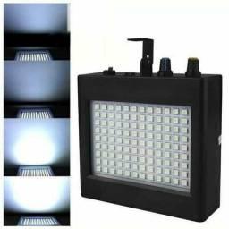 Efeito Strobo 108 Leds Luz Branca Sensor Rítmico - 81438