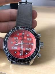 Relógio invicta original aviator crystal sapphire