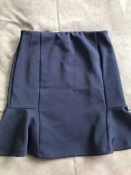 Bazar da quarentena - saia azul
