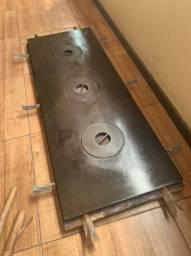 Chapa para fogão a lenha de ferro fundido
