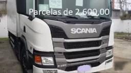 Scania P320 2020 8x2 Bitruck Baú Alumínio Facchini, Entrada mais Parcelas com Serviço.