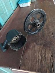 Partida retrátil e polia de motorela