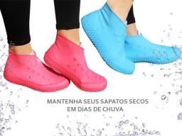 Protetor Sapato Sapatilhas Silicone Haiz Chuva Água Limpeza