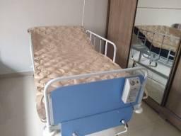 Cama Hospitalar + colchão pneumático + colchão de espuma