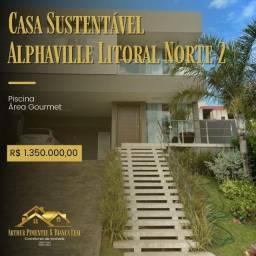 Oportunidade Alphaville Litoral Norte 2 Porteira Fechada Energia solar pra casa toda