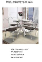Mesa de jantar com 4 cadeiras promoção