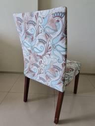 6 Cadeiras de jantar com capa