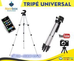 Tripé Câmera Fotográfica e Celular | Mbtech Profissional