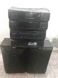 Rádio Panasonic - CD, Tape e AM/MF
