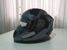 CAPACETE NORISK FF302 RIDIC FOSCO -PRETO/CINZA N°60