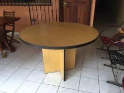 Mesa de madeira MDF redonda