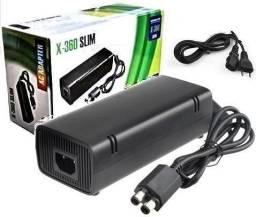 Carregador Fonte Para Xbox 360 Slim 2 Pinos Bivolt 110v 220v