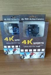 Câmera Ação Hd Go Sport Wi-fi 4k 1080p Prova D'água Mic Pronta Entrega