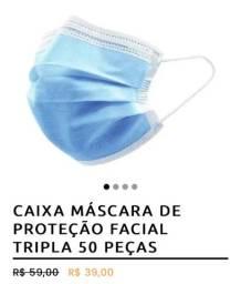 PROMOÇÃO KIT C/ 50 DE MÁSCARA TRIPLA