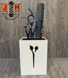 Suporte de tesoura Pentes e acessórios barbearia - somos loja