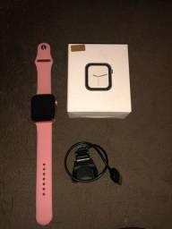 Smartwatch iwo 8 lite Rosê troca pulseiras