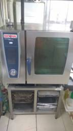 Forno Rational Selfcookingcenter We 61 + Base + Coifa + Gns