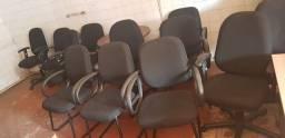 Cadeiras para escritório,  mesas e muito mais