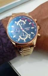 Relógio Nibosi Original, Cronógrafo funcional, Aço Inoxidável.
