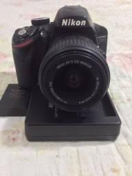 Nikon D3200 Pouco Uso+ Lente + Acessórios