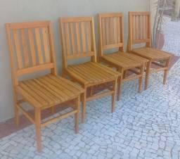 cadeiras em madeira de demolição peroba rosa