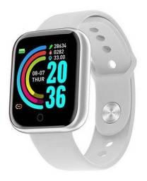Smartwatch D20/Y68 BRANCO | Monitor de Saúde