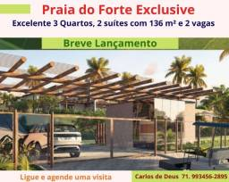 Imperdível , Lançamento : Praia do Forte Exclusive, 3 quartos, 02 suítes, 136 m², 2 vagas