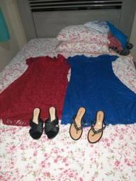 vestido e sandalia